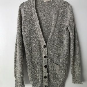 Cardigan with elbow pads